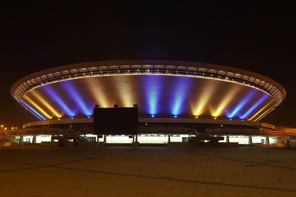 Katowice Spodek- nowa iluminacja